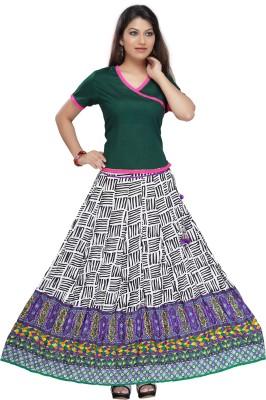 Shes Printed Women's Regular Multicolor Skirt