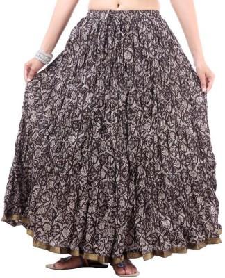 Vivancreation Embroidered Women's Regular Black Skirt