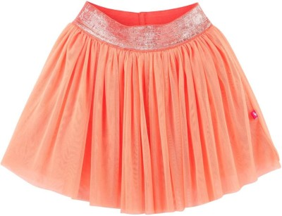 Fisher-Price Solid Girl's Pleated Orange Skirt