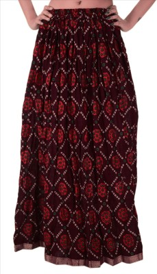 Skirts & Scarves Self Design Women's A-line Maroon Skirt