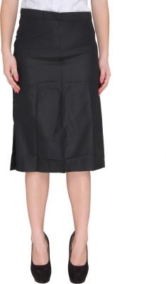 Bombay High Solid Women's Pencil Black Skirt
