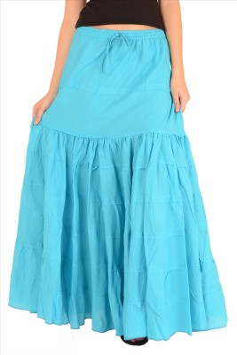Skirts & Scarves Solid Women's A-line Blue Skirt