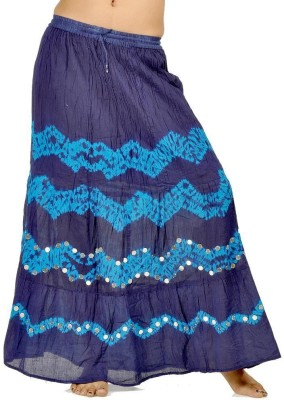 Sunshine Striped Women's Regular Blue Skirt