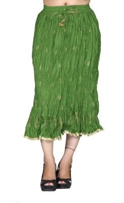 Chhipaprints Printed Women's Regular Green Skirt