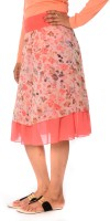Oviya Women's Clothing - Oviya Printed Women's A-line Pink Skirt