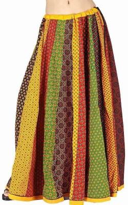 Jaipur Raga Printed Women's Regular Multicolor Skirt