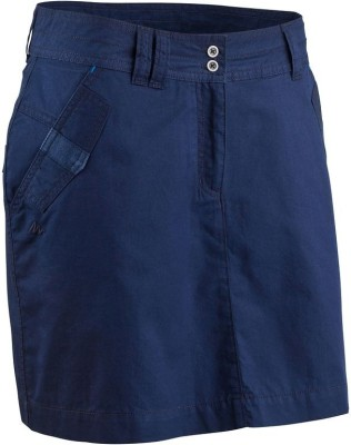Quechua Solid Women's Regular Blue Skirt