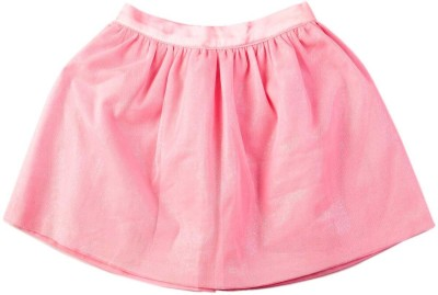 Mom & Me Solid Baby Girl,s Gathered Pink Skirt