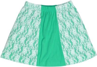 Dreamszone Embellished Girl's Regular Green Skirt
