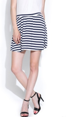 SbuyS Striped Women's Bubble Black, White Skirt