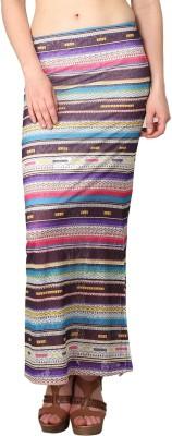 Shararat Printed Women's Straight Multicolor Skirt