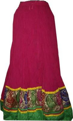 rajasthani virasat Embroidered Women's Regular Pink, Multicolor Skirt