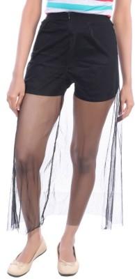 Avakasa Solid Women's A-line Black Skirt