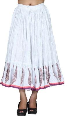 Chhipaprints Printed Women's Regular White Skirt