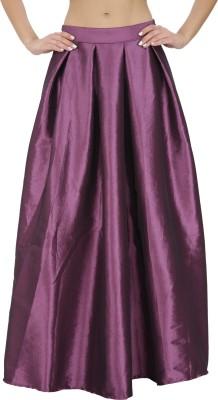 Svt Ada Collections Solid Women,s Regular Purple Skirt