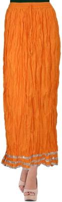 TheDarziClub Solid Women's Wrap Around Orange Skirt