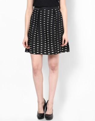 Athena Printed Women's Regular Black Skirt at flipkart