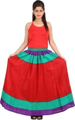 Sunshine Solid Women's A-line Multicolor Skirt
