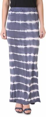 NOD Printed Women's Straight Purple, White Skirt