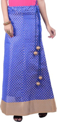 Rene Woven Women's A-line Blue Skirt