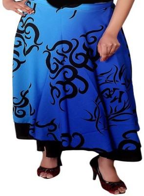 Dream Fashion Printed Women's Wrap Around Black Skirt