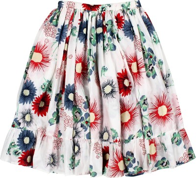 Teeny Tantrums Printed Girl's A-line Multicolor Skirt