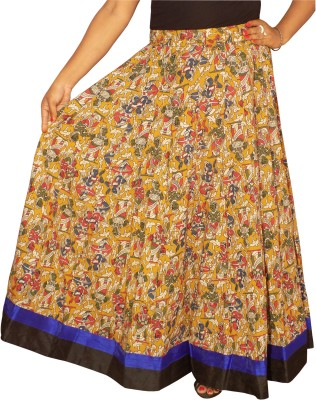 KheyaliBoutique Graphic Print Women's Gathered Multicolor Skirt