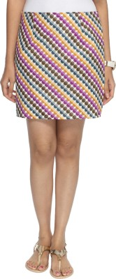 Francisca & Dominique Polka Print Women's Tube White Skirt