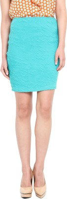 Pera Doce Solid Women's A-line Green Skirt