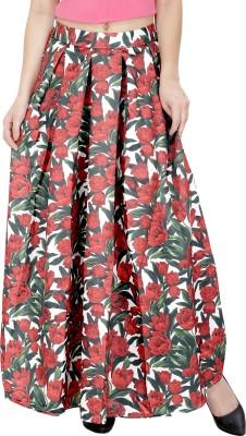 Svt Ada Collections Floral Print Women's Regular White Skirt
