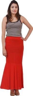 Ace Solid Women's Regular Red Skirt