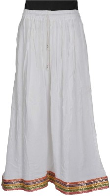 Freedom Daisy Self Design Women's Regular White Skirt