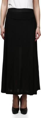 Legis Solid Women's A-line Black Skirt