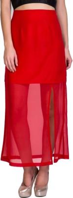 Sugar Her Solid Women's A-line Red Skirt