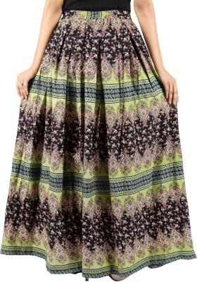 LEELA Printed Women's Pleated Multicolor Skirt