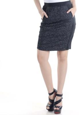 Veakupia Solid Women's Pencil Black Skirt