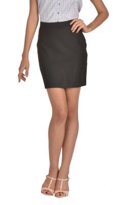 Bombay High Striped Women's Pencil Black Skirt