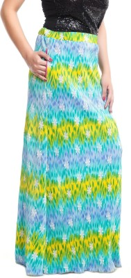 ZOYS Printed Women's Pleated Multicolor Skirt
