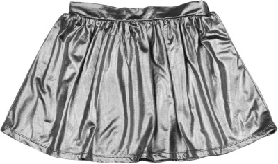 Chemistry Girl Solid Girls A-line Black, Silver Skirt at flipkart