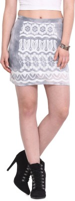 Rena Love Embroidered Women's A-line White Skirt