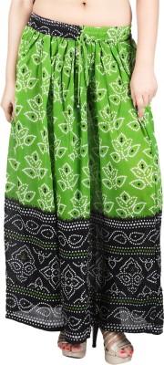 Franclo Self Design Women's Regular Green Skirt