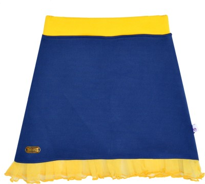 Lil Orchids Solid Girl,s A-line Dark Blue Skirt