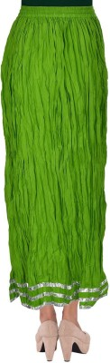 TheDarziClub Solid Women's Wrap Around Green Skirt
