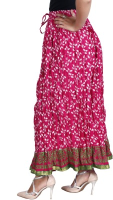 Vani Printed Girl's A-line Multicolor Skirt