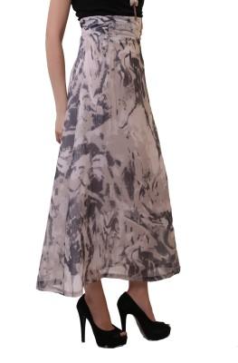 Belle Fille Solid Women's A-line White Skirt