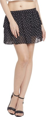 Globus Printed Women's Regular Black Skirt