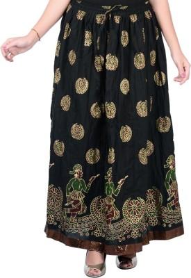Nisba Fashions Graphic Print Women's Regular Black Skirt