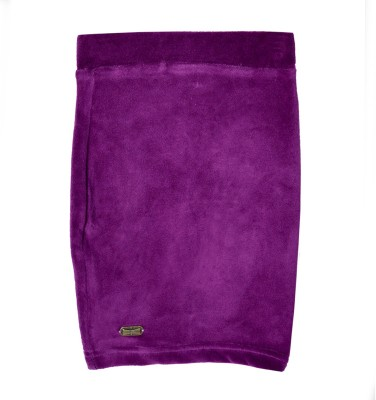 Lil Orchids Solid Girl,s Pencil Purple Skirt