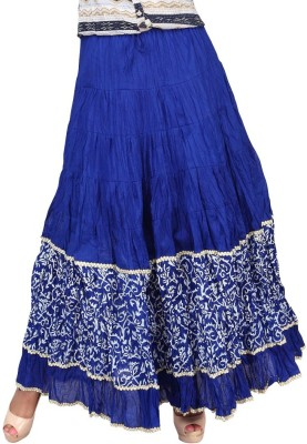 Carrel Printed Women's Broomstick Blue, White Skirt