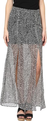 Abiti Bella Printed Women's Straight Multicolor Skirt